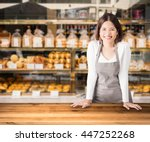 business owner with bakery shop ... | Shutterstock . vector #447252268