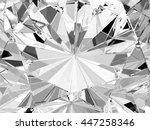 realistic diamond texture close ... | Shutterstock . vector #447258346