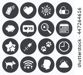 calendar  wifi and clock... | Shutterstock .eps vector #447264616