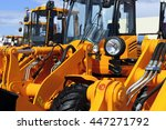 bulldozer headlight  row of... | Shutterstock . vector #447271792