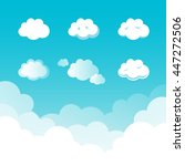 set of different style clouds ... | Shutterstock .eps vector #447272506