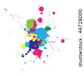 vector color paint splashes... | Shutterstock .eps vector #44728000
