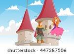 illustration of the knight... | Shutterstock . vector #447287506