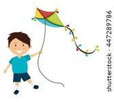 colorful kite flying over white ...   Shutterstock .eps vector #447289786