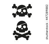 skull and crossbones flat icon. ... | Shutterstock .eps vector #447289882