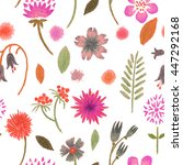 simple floral pattern | Shutterstock . vector #447292168