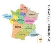 france metropolitan map with... | Shutterstock .eps vector #447294646