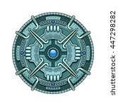 ethnic circle element in mayan... | Shutterstock .eps vector #447298282