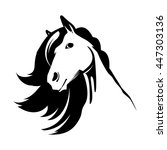 head of the cute horse | Shutterstock .eps vector #447303136