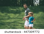 Father And Daughter Jogging....