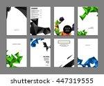 geometric cover background ... | Shutterstock .eps vector #447319555