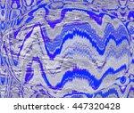 abstract futuristic globe. art... | Shutterstock . vector #447320428