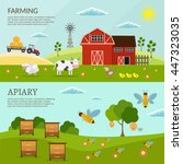 big set of vector farm and... | Shutterstock .eps vector #447323035