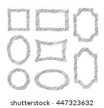 vector doodle frames. set of... | Shutterstock .eps vector #447323632