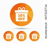 sale gift box tag icons.... | Shutterstock .eps vector #447323716