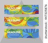 Set Of Flyers With Abstract...