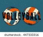 volleyball typographical... | Shutterstock .eps vector #447333316