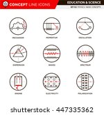 concept line icons set 3 physics | Shutterstock .eps vector #447335362