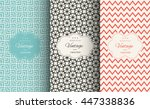 elegant seamless pattern set.... | Shutterstock .eps vector #447338836
