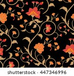 bright floral seamless pattern... | Shutterstock .eps vector #447346996