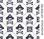 vector seamless pattern with... | Shutterstock .eps vector #447350785
