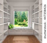home reading concept. empty... | Shutterstock . vector #447358426