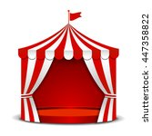circus tent isolated on white
