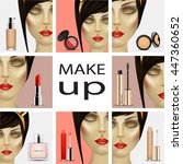make up for woman. beauty and... | Shutterstock .eps vector #447360652