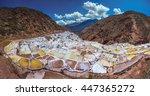 salinas de maras  man made salt ... | Shutterstock . vector #447365272