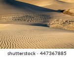 sand dunes patterns and texture ... | Shutterstock . vector #447367885