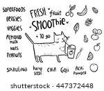 cute cartoon sketchy cat...   Shutterstock .eps vector #447372448