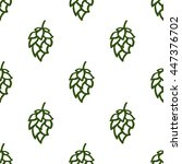 hop beer seamless pattern...   Shutterstock .eps vector #447376702