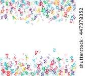 vector illustration of alphabet ... | Shutterstock .eps vector #447378352