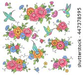 set of decorative composition... | Shutterstock .eps vector #447378595