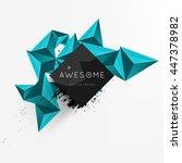 geometric vector background.... | Shutterstock .eps vector #447378982
