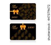 black gift cards with golden... | Shutterstock .eps vector #447379672