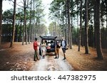 people friendship hangout... | Shutterstock . vector #447382975