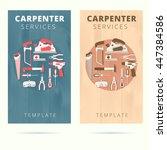 carpenter service vector...   Shutterstock .eps vector #447384586