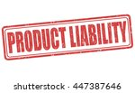 product liability grunge rubber ... | Shutterstock .eps vector #447387646