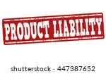 product liability grunge rubber ... | Shutterstock .eps vector #447387652