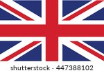 uk flag in vector mode | Shutterstock .eps vector #447388102