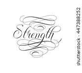 infinity strength icon... | Shutterstock .eps vector #447388252