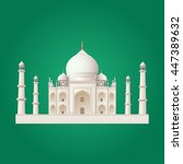 taj mahal vector design | Shutterstock .eps vector #447389632