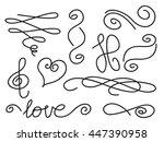 vector set of handwritten curls ... | Shutterstock .eps vector #447390958