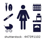 pictogram of a pregnant woman... | Shutterstock .eps vector #447391102