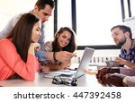 group of young business people... | Shutterstock . vector #447392458