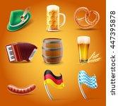oktoberfest set illustration   Shutterstock .eps vector #447395878