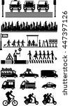 urban city life metropolitan | Shutterstock .eps vector #447397126