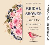 bridal shower invitation | Shutterstock .eps vector #447400672