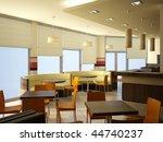 3d rendering of a modern bar... | Shutterstock . vector #44740237